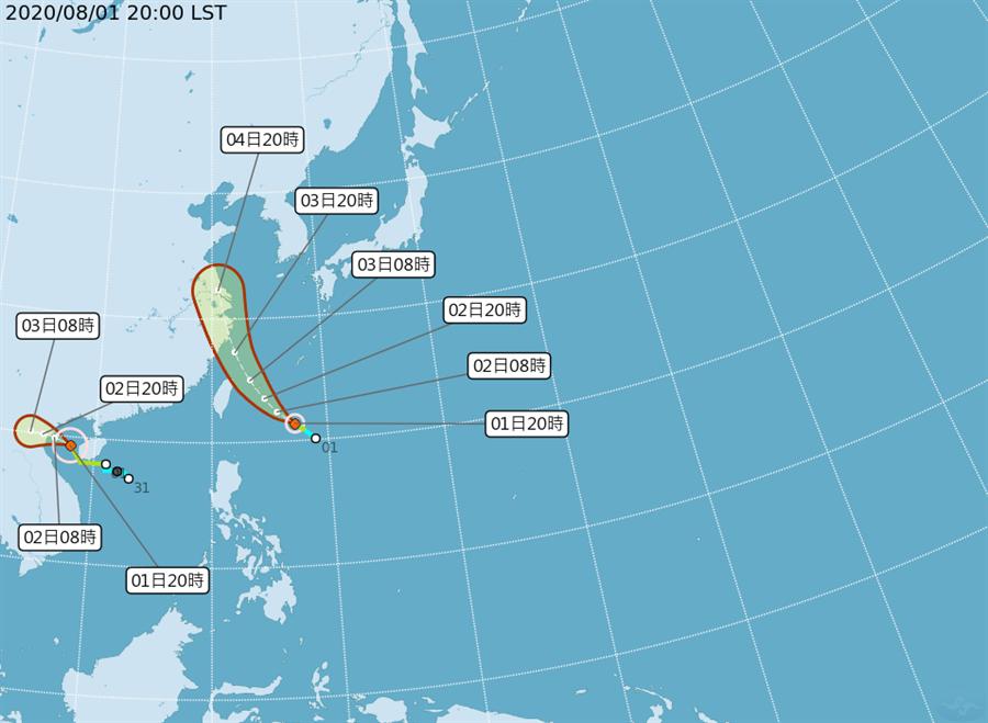 4號颱風哈格比於今天(1日)晚間生成,將對台灣造成直接影響 (圖/中央氣象局)