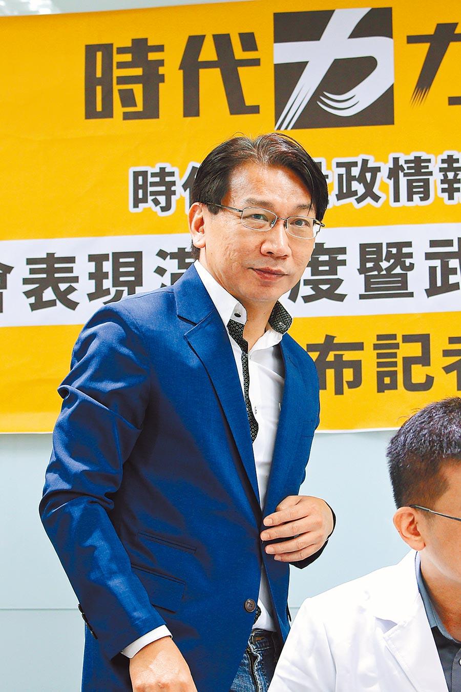 時代力量黨主席徐永明涉收賄弊案遭檢調約談到案。(本報資料照片)