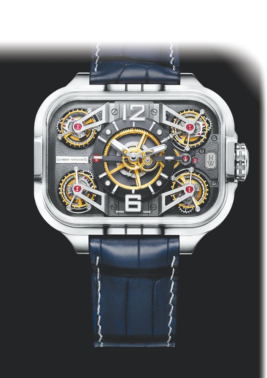 海瑞溫斯頓史詩陀飛輪Histoire de Tourbillon 10號腕表,限量10只,大約2600萬元。(Harry Winston提供)