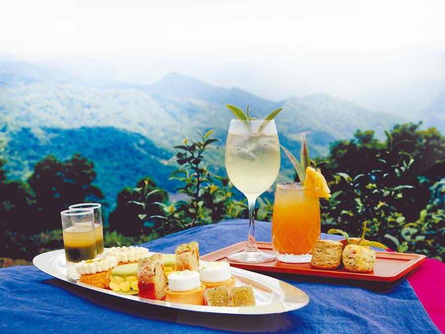 台北凱撒大飯店Checkers餐廳與「新北好茶」聯合推出「幻夏茶饗曲」平日雙人下午茶套餐。(台北凱撒大飯店提供)