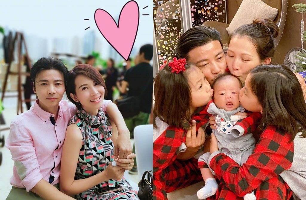蔡少芬和張晉婚後育有3個孩子。(圖/翻攝自微博)