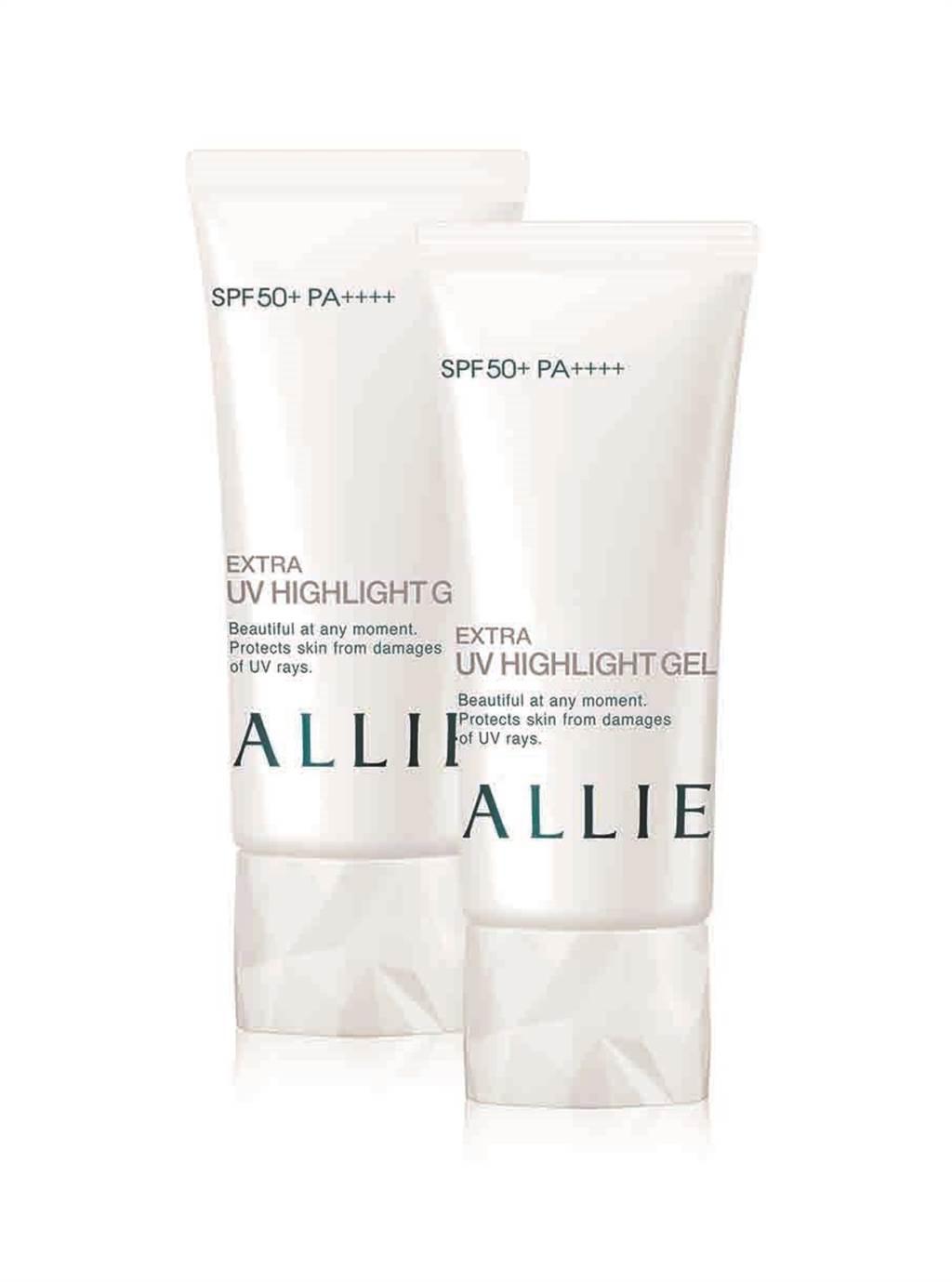 ALLIE EX UV高效防曬亮白水凝乳60gX2。(ALLIE提供)
