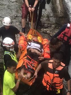2女2男花蓮砂婆礑溪溯溪 男3米高處跳水昏迷搶救
