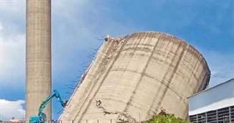 雲林紙廠拆煤倉震裂民宅被勒令停工 半倒煤倉成奇觀