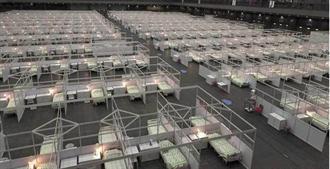 港「方舱医院」启用 核酸检测支援队留一个月