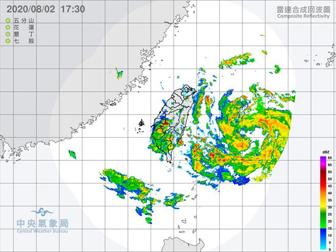 針對「南投縣、雲林縣、嘉義市、嘉義縣」發布大雷雨即時訊息,持續時間至18時30分止。(氣象局)