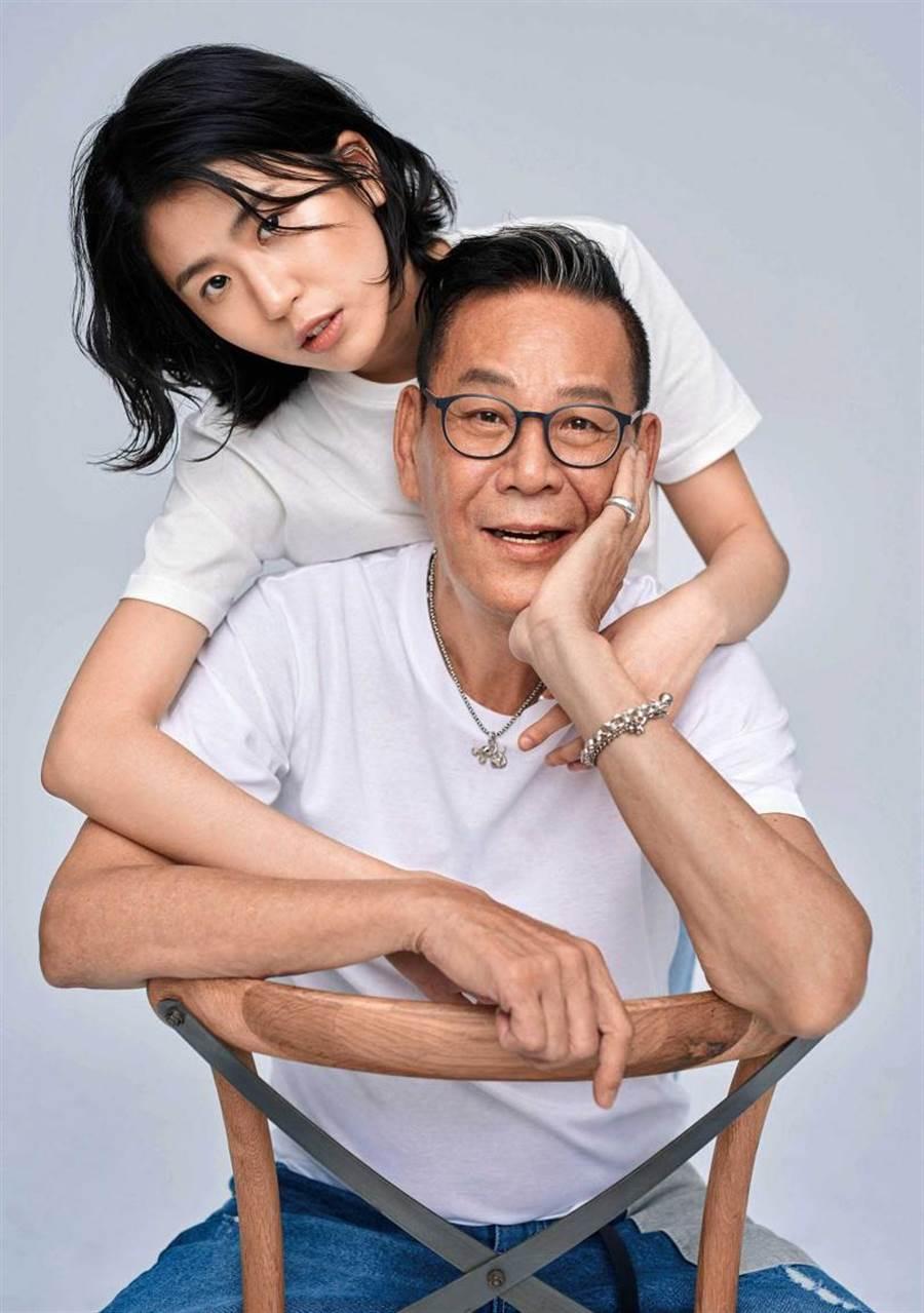 女兒陳璇入行後,龍劭華對於父女倆一起在演藝圈努力感到很開心。(圖/寶麗來娛樂提供)