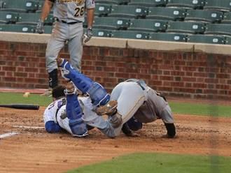 MLB》捕手撞翻捕手 海盜錯誤跑壘輸小熊