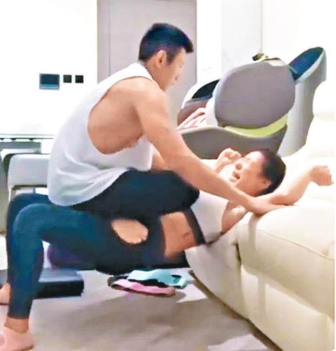 陳婉衡在社群媒體放閃,曬出跟男友進行「男上女下」的健身動作片,卻惹得低調的男友不開心。(照片來源:香港東網)