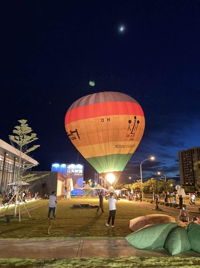 「泰嘉開發」在台南市九份子重劃區造鎮,新建案「水律川」推出免費搭熱氣球活動,吸引民眾參與。(泰嘉開發提供)