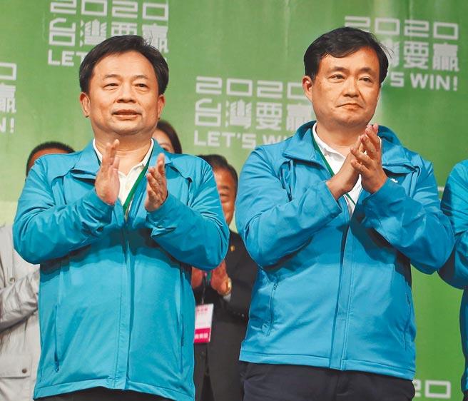 蔡英文前競總操盤手洪耀福(右)與民進黨祕書長林錫耀(左)都是總統府祕書長的熱門人選。(本報資料照片)