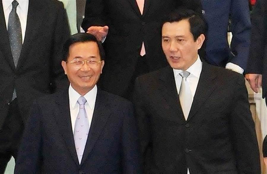 前總統陳水扁與前總統馬英九(中時資料照/黃世麒攝)
