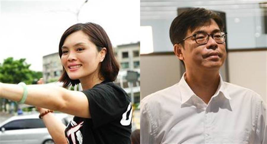 高雄市長補選國民黨候選人李眉蓁、民進黨候選人陳其邁(右)。(合成圖/資料照)