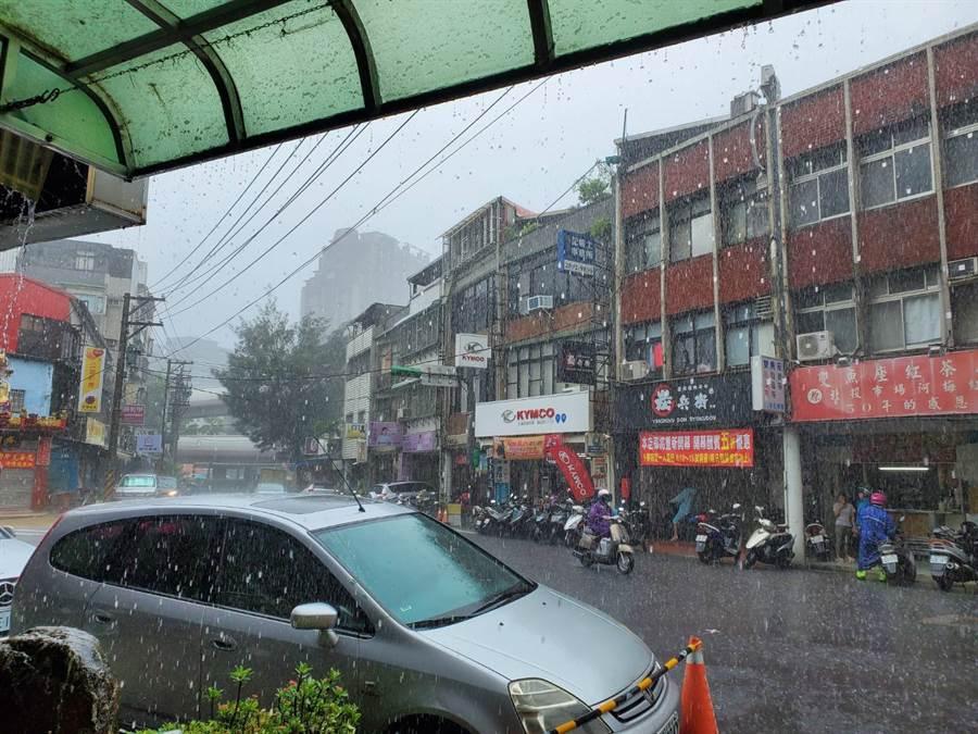 北投雨超級大。(網友提供)
