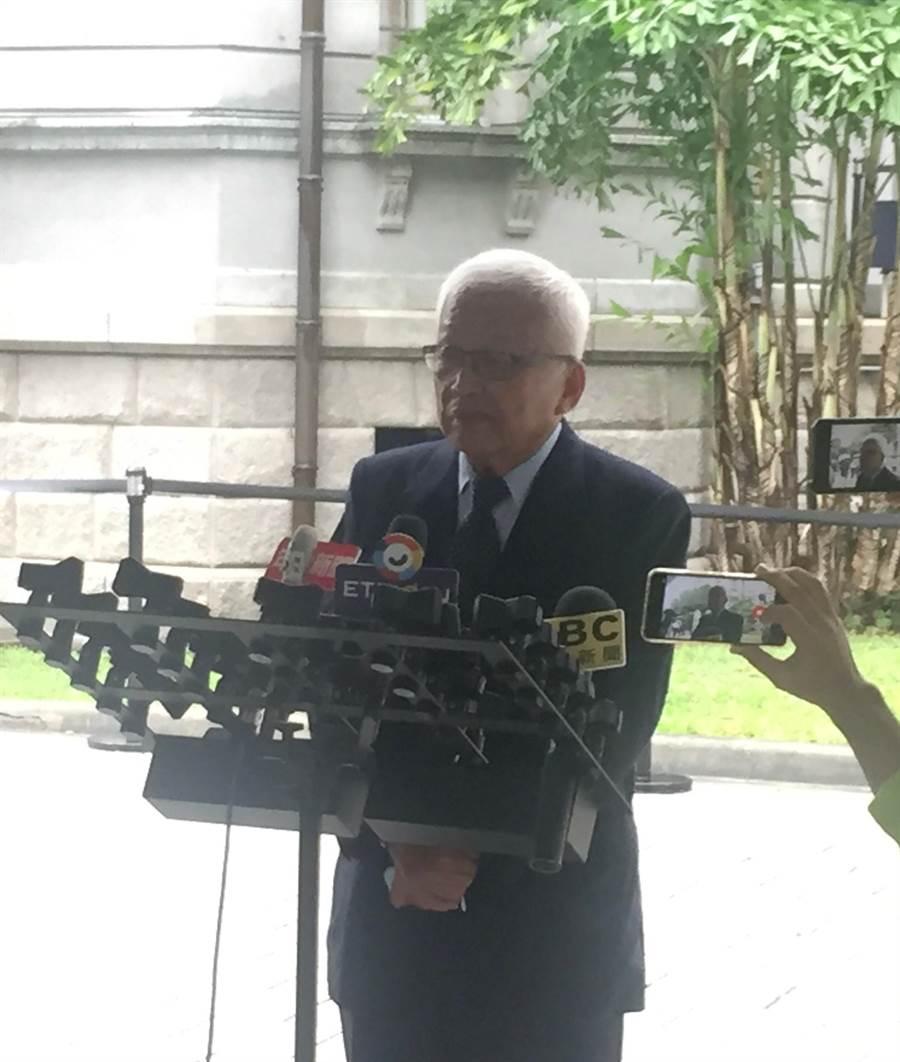 前總統府國策顧問劉泰英 (實習記者廖祟光攝)