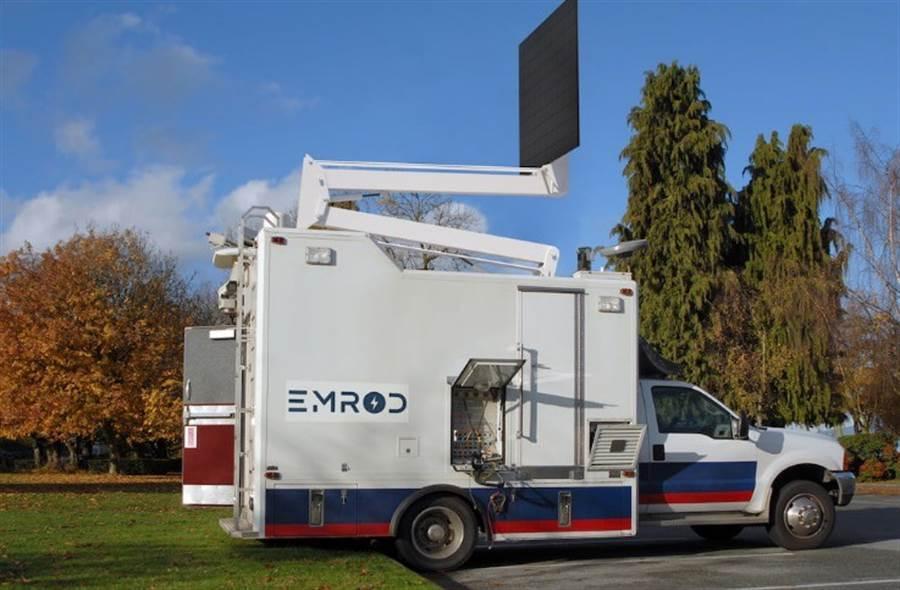伊曼德公司的電力發射車。(圖/Emrod)