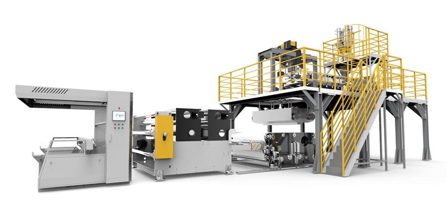SCP熔喷联盟60天即成功研产出SCP-MB1600熔喷布不织布生产线。图/SCP熔喷联盟提供