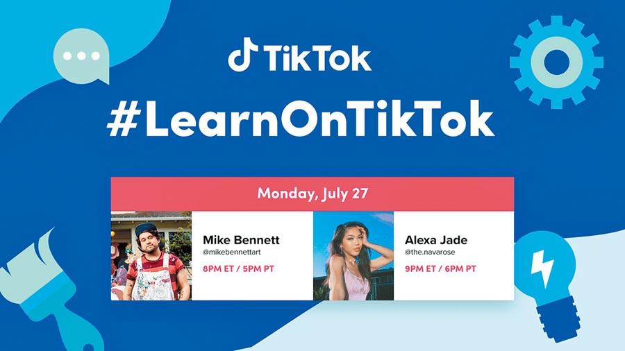 抖音的國際TikTok是美國成長最快的社交軟體。組圖為TikTok美國的活動宣傳。(取自twitter @tiktok_us)