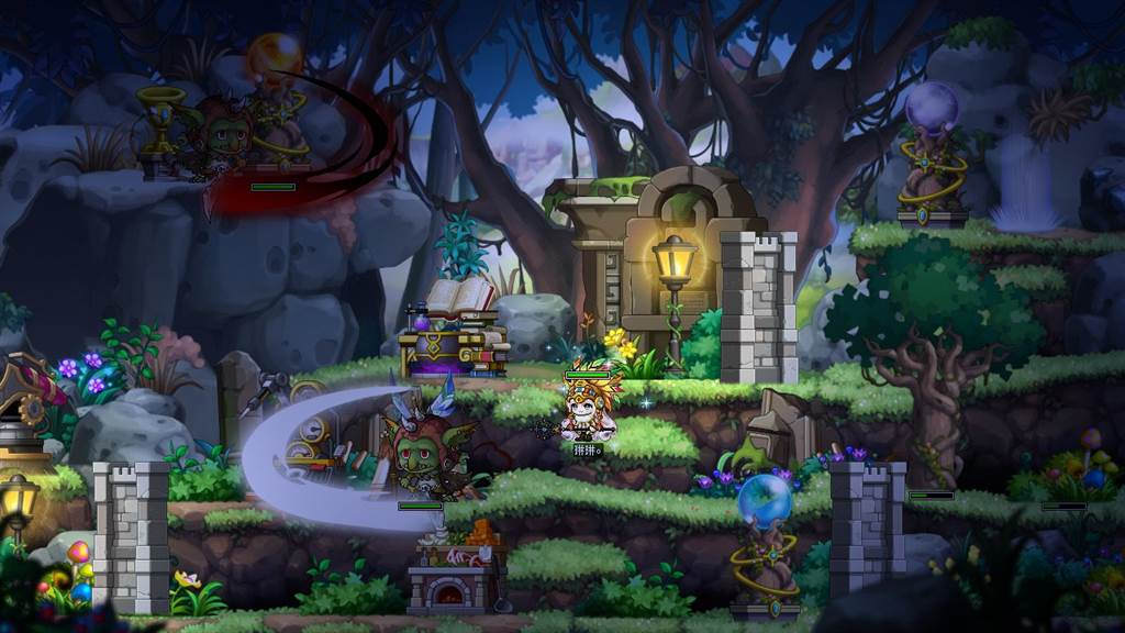 《新楓之谷》「楓之谷探險隊」,玩家可前往神秘的無人島獲取資源。(圖/遊戲橘子提供)