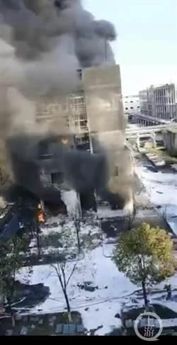 陸湖北省仙桃化工廠發生爆炸 造成6死4傷
