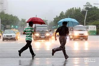 下班小心雨彈 氣象局發布10縣市大雨特報