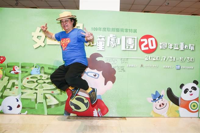 以「水果奶奶」一角广获大小朋友喜爱的演员赵自强,2000年创立如果儿童剧团,致力推广儿童表演艺术。(邓博仁摄)