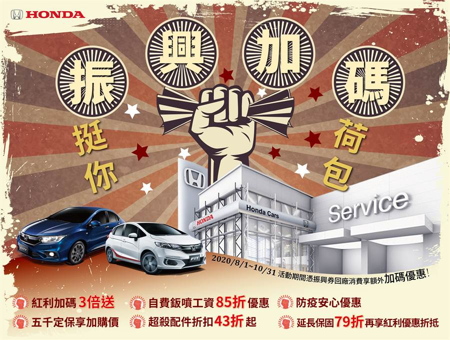 Honda Care+ 振興加碼 挺你荷包