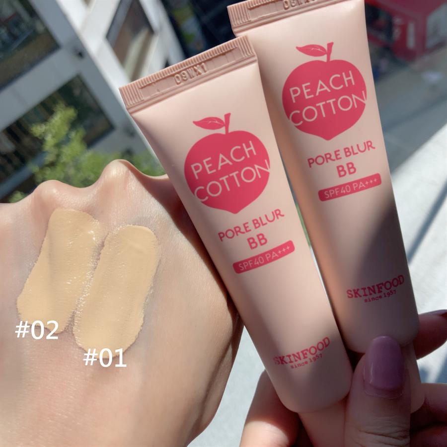 蜜桃BB霜推出01、02兩個色選。(圖/邱映慈攝影)