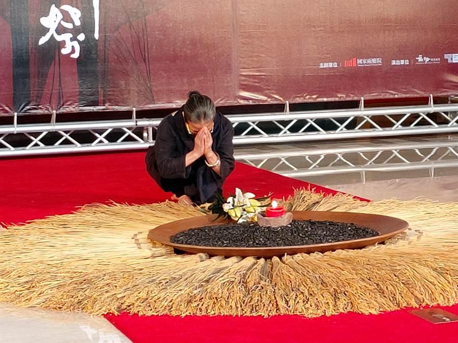 國家文藝獎得主林麗珍,曾以代表作《花神祭》獲法國藝術電視台評選為當代八大編舞家,她表示,這部作品是獻給大自然的感謝。(李欣恬攝)