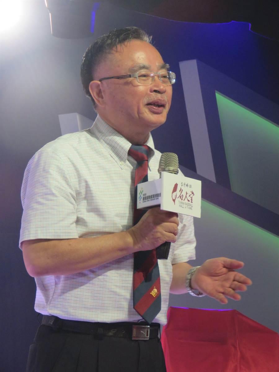 台灣棒球名人堂協會理事長黃瑛坡表示,等疫情趨緩,將舉辦84年奧運國手世紀大對談。(台灣棒球名人堂提供/廖德修台北傳真)