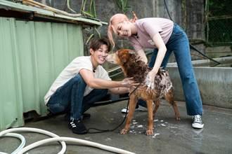 安心亞噴濕夏和熙 為毛小孩沖澡成另類「濕身秀」