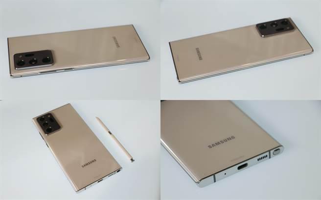 三星Galaxy Note20 Ultra機身。(黃慧雯攝)