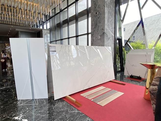瑪摩麗磁於單一紋路、花色有多尺寸、多表面的產品,讓建築師與設計師在建材的挑選及成本考量有更多彈性。(盧金足攝)