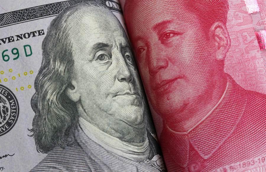 中美利差8月4日來到歷史高點,兩者相差240個基點。(shutterstock)