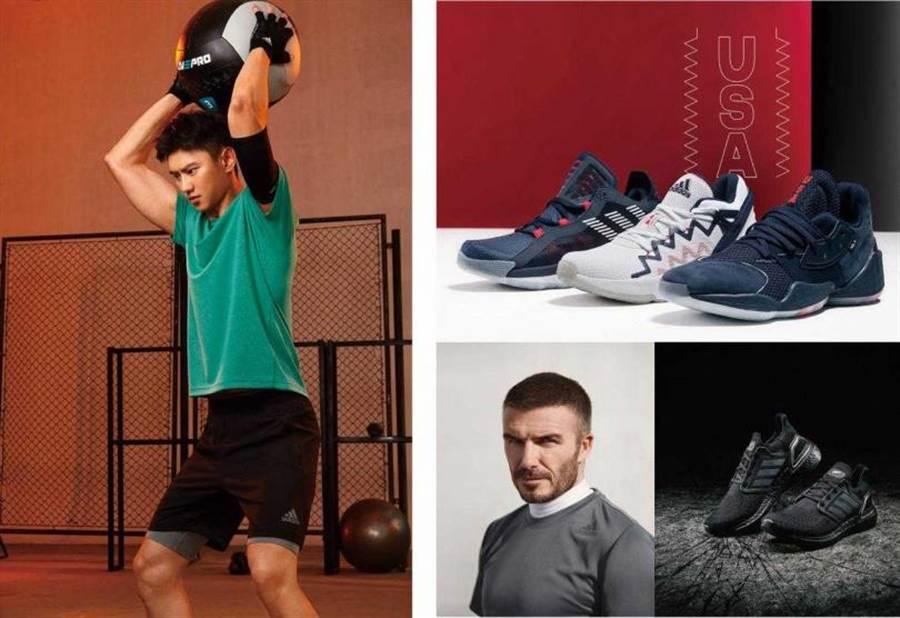 (左) adidas CHILL TEE 绿色T恤/ 1,490元;(右)adidas Ultraboost 20 ALL BLACKS FZ0577球鞋 /6,500元(图/品牌提供)