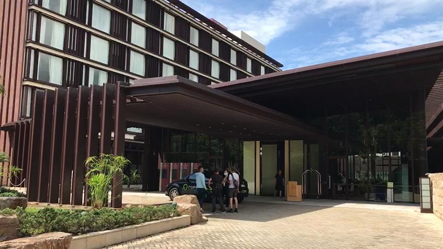 礁溪老爺酒店疑似發生顧客集體食物中毒,宜蘭縣衛生局已要求有問題的餐廳暫停營業。(胡健森攝)