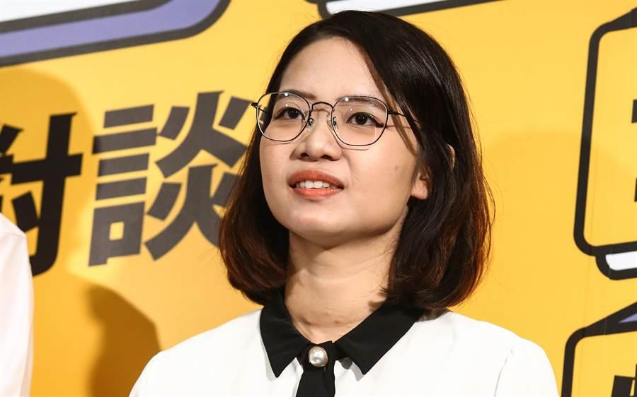 時代力量台北市議員黃郁芬。(中時資料照)