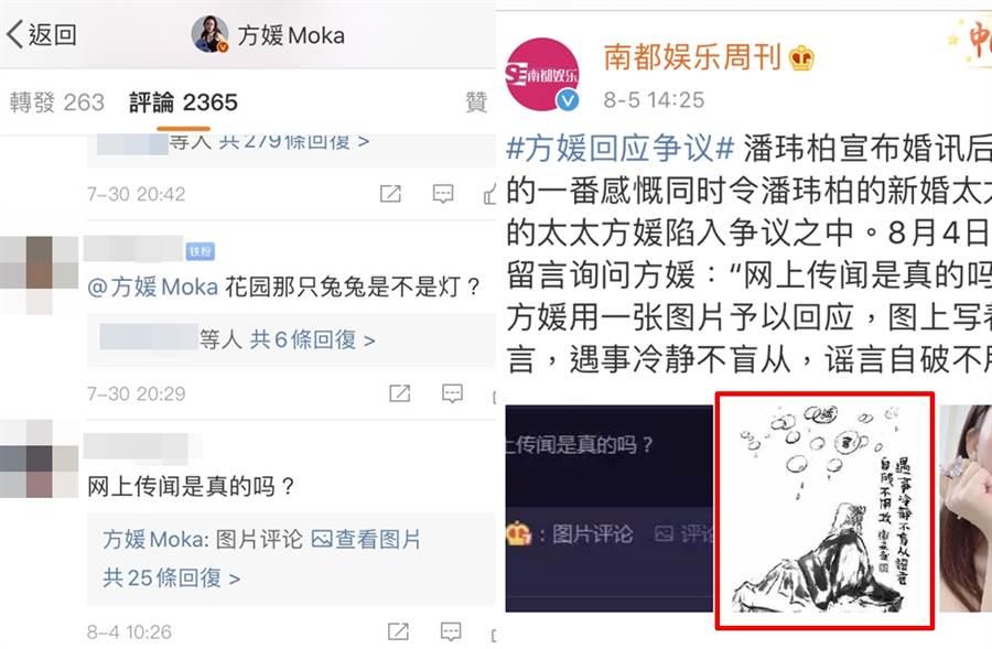 方媛回應曾加入「天王嫂訓練營」傳聞。(圖/翻攝自方媛Moka、南都娛樂周刊微博)