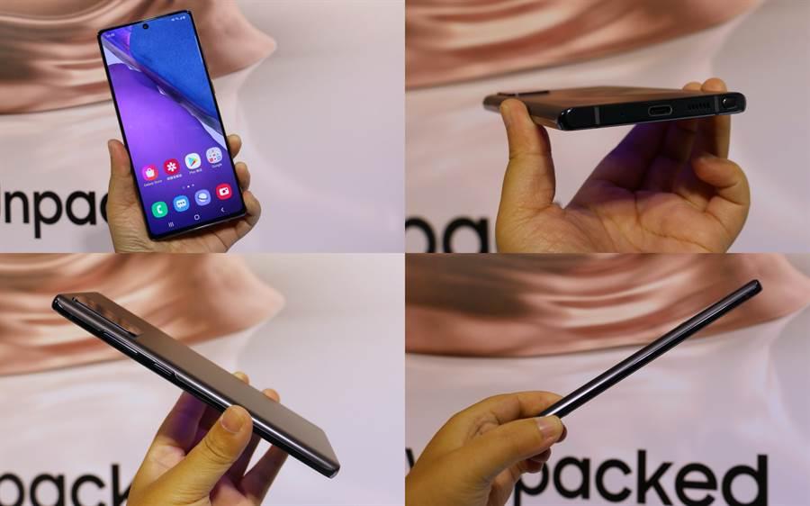 三星Galaxy Note20 機身。(黃慧雯攝)
