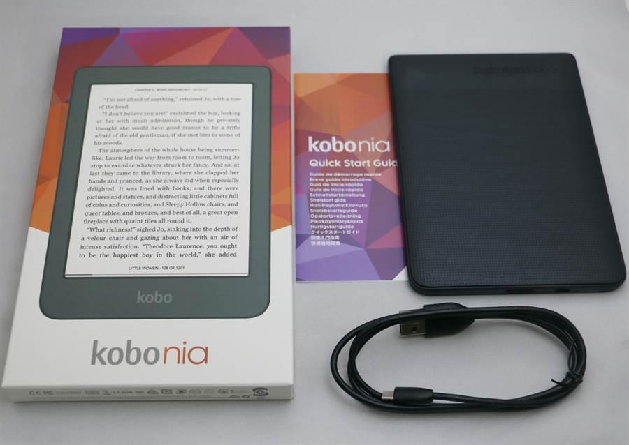 樂天電子書閱讀器Kobo Nia 。(黃慧雯攝)