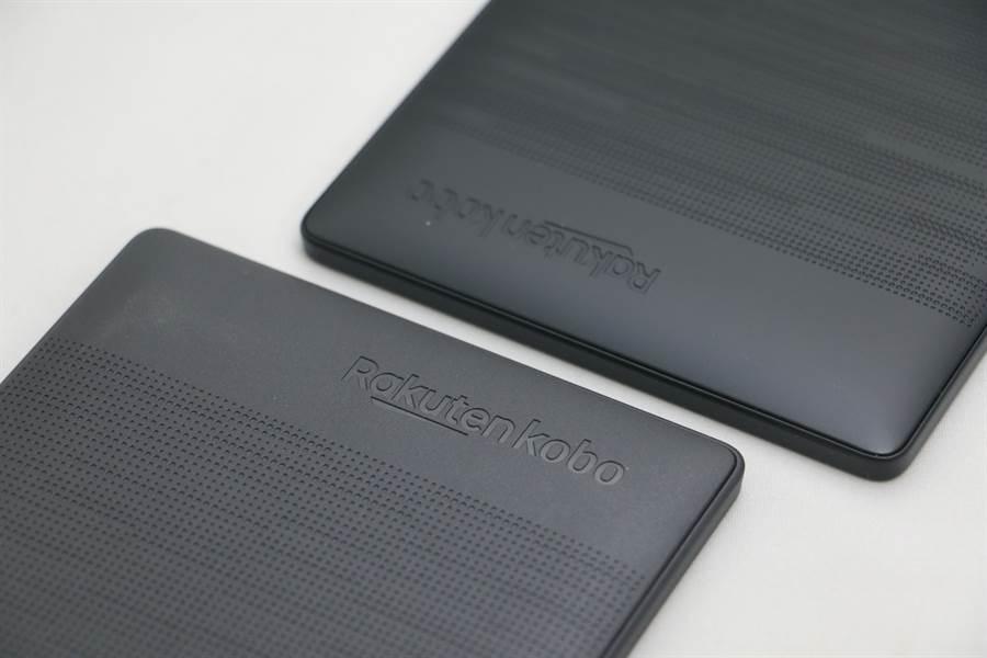 樂天電子書閱讀器Kobo Nia (上)與Clara HD閱讀器對比。(黃慧雯攝)