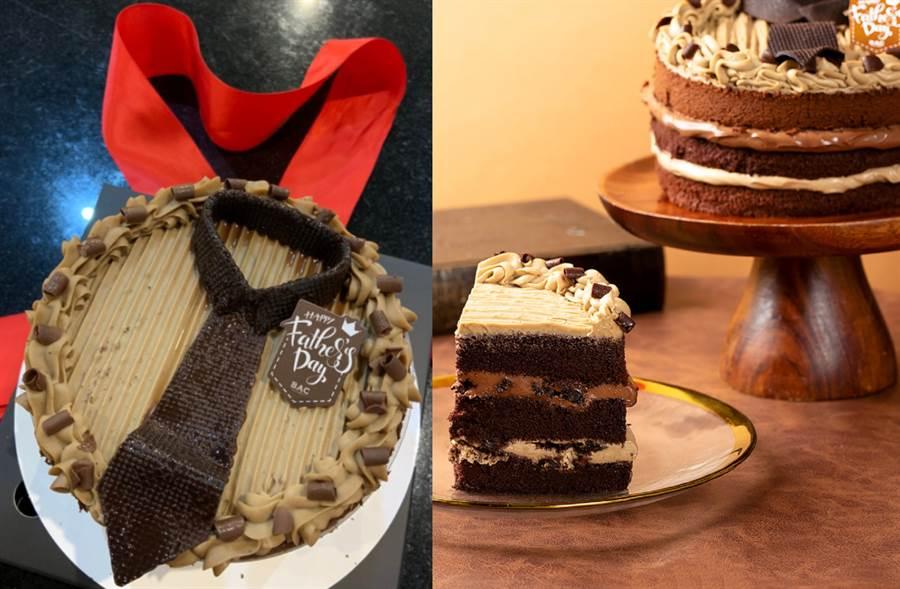 可可公爵焙茶巧克力蛋糕寵老爸 醇郁夾餡「領」風潮(圖/楊婕安攝)