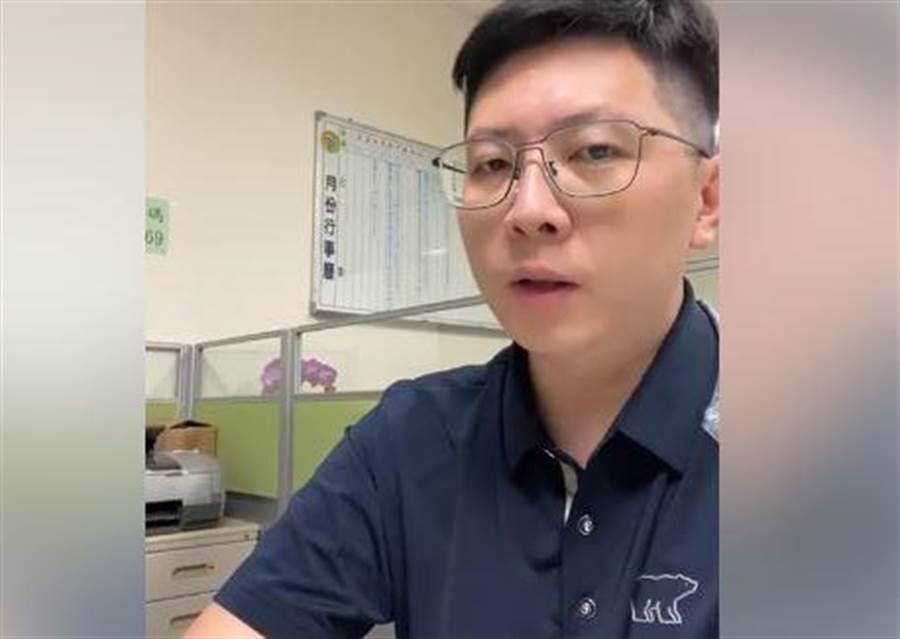 王浩宇談時代力量未來發展。(取自王浩宇臉書影片)