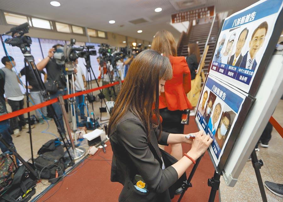 立委集體收賄案震撼政壇,台北地院4日下午公布裁定羈押結果,各家媒體大顯神通,第一時間將結果告知民眾。(陳怡誠攝)
