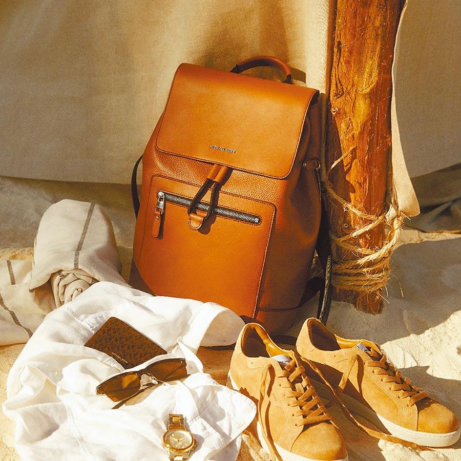 Michael Kors父親節主打MK皮革後背包,1萬7000元。(Michael Kors提供)