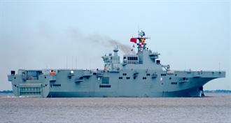 影》陸075艦首海試 檢測主要系統 最快年內可服役