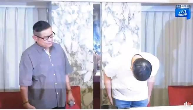 澎恰恰宣布破產,並在記者會上鞠躬道歉。(圖/取材自中時娛樂臉書)
