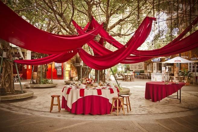 與君品Collection結盟的「MAJI 集食行樂音樂庭園」,擁有多元風格可辦理沈浸式宴會。(圖/雲品國際)