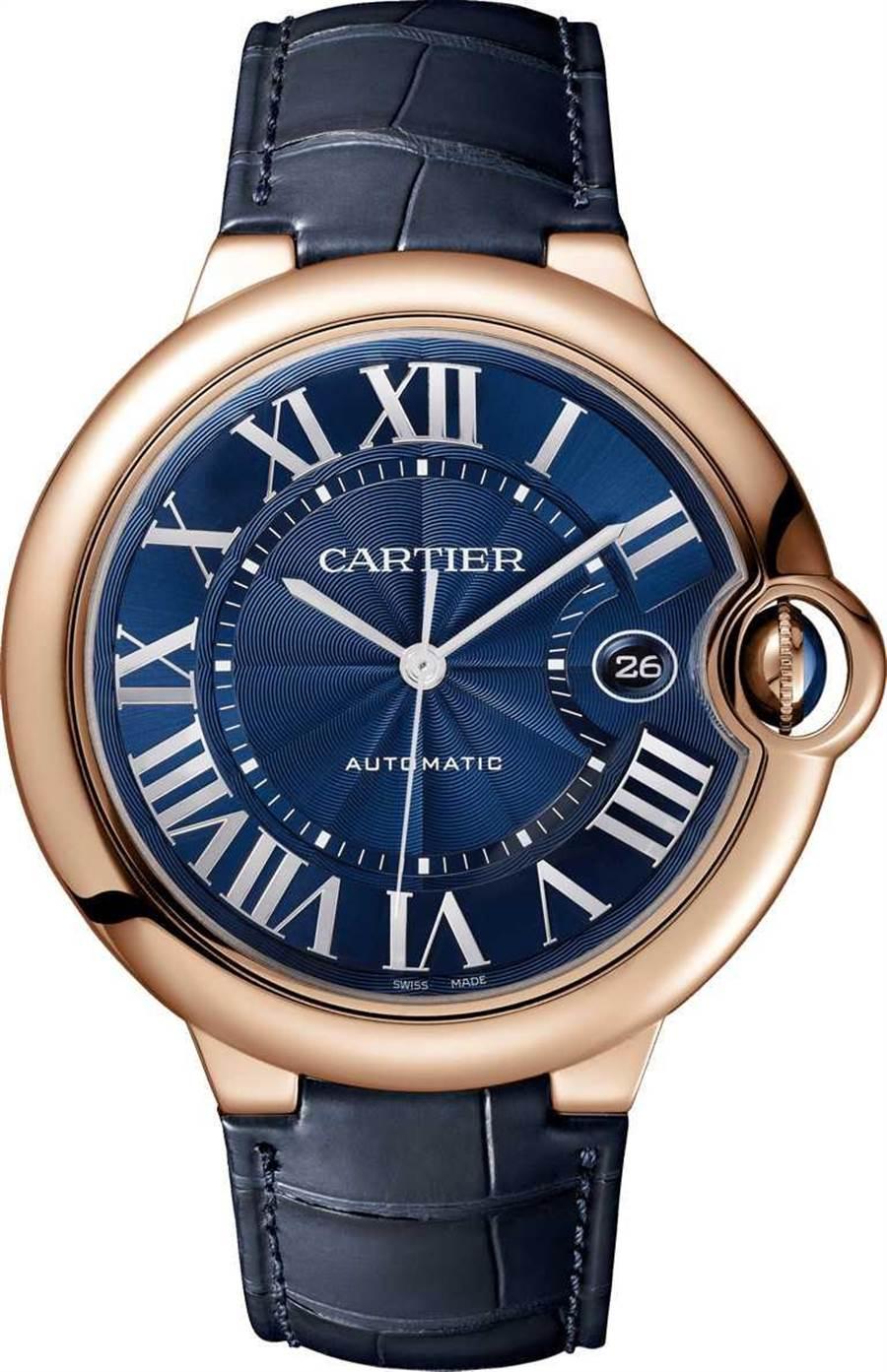 CARTIER「Ballon Bleu de Cartier系列」腕表╱玫瑰K金表壳,42mm╱485,000元。(图╱CARTIER提供)