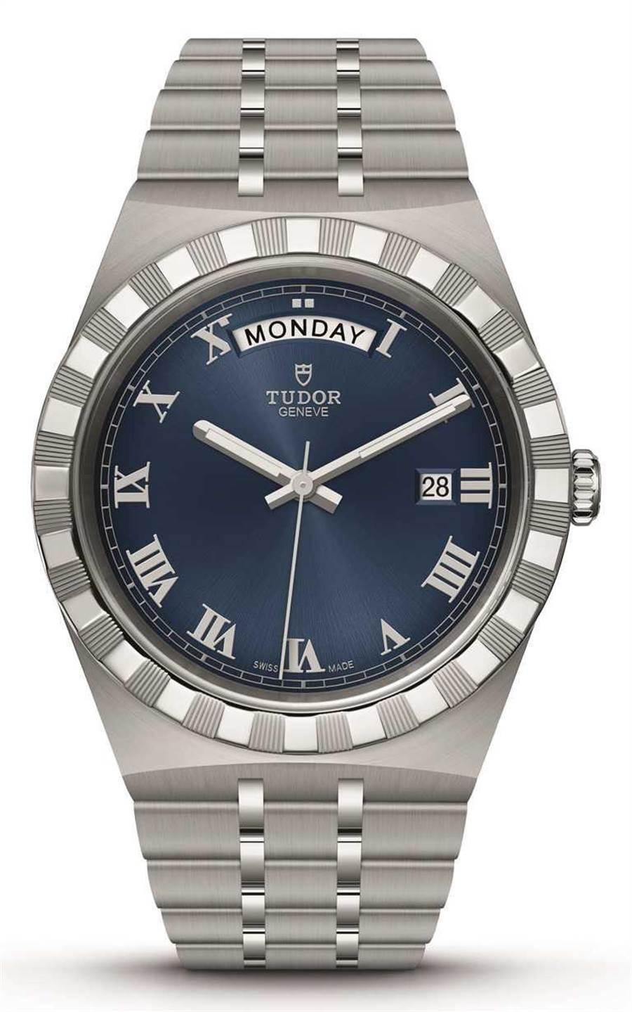 TUDOR「Royal皇家系列」腕表,316L不锈钢表壳,精钢表带,41mm╱73,500元。(图╱TUDOR提供)